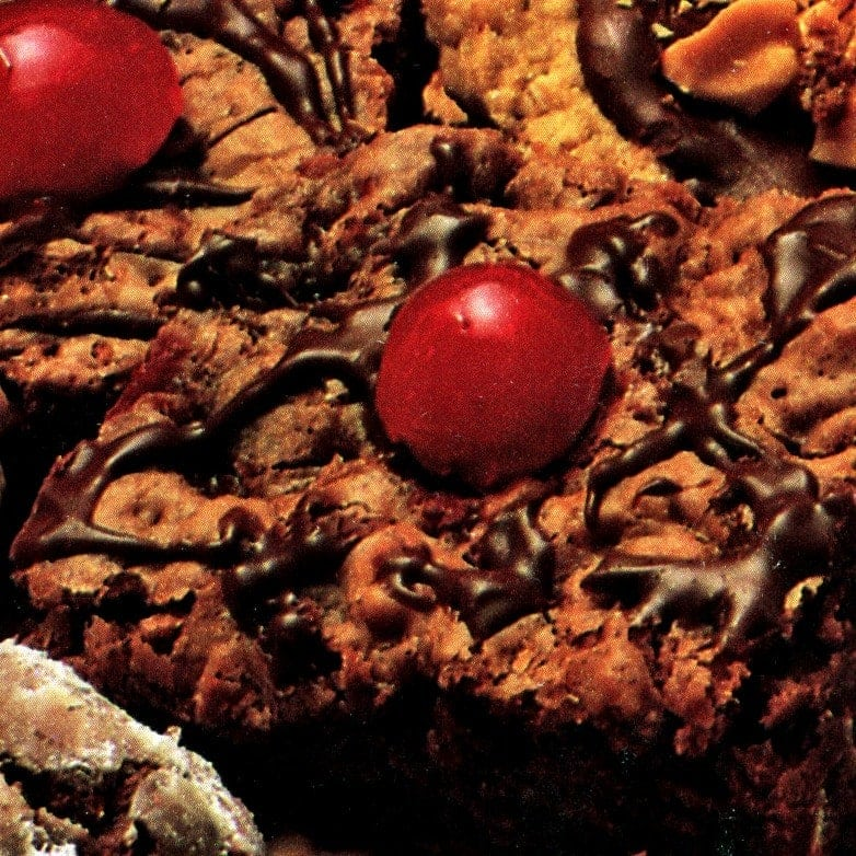Chocolate cherry brownies recipe (1987)