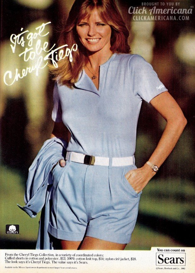 Cheryl Tiegs' clothing collection for Sears (1982) - Click Americana