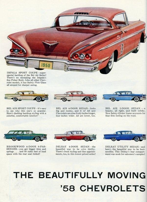 The beautifully-moving '58 Chevrolets