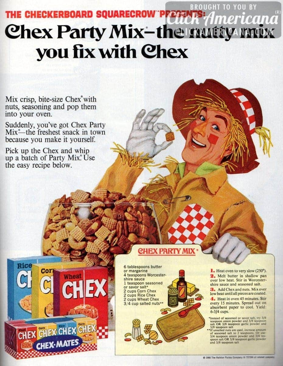 Whip up a batch of Chex party mix (1966)