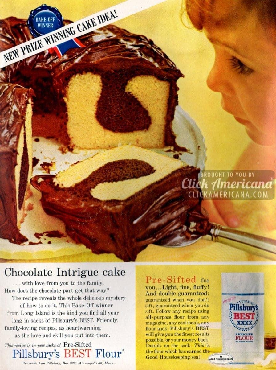 Chocolate Intrigue cake recipe (1962)