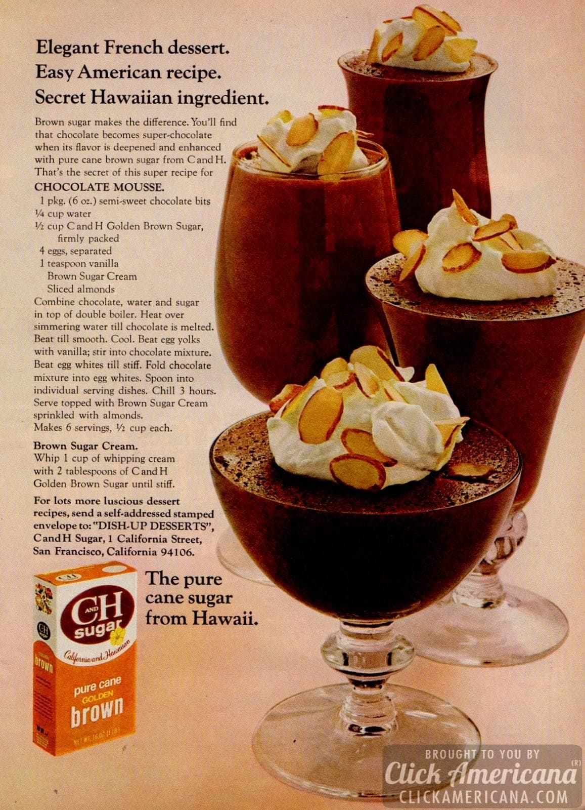 Chocolate Mousse with brown sugar (1972) - Click Americana