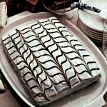 A chocolate & vanilla pretty party cake (1982)