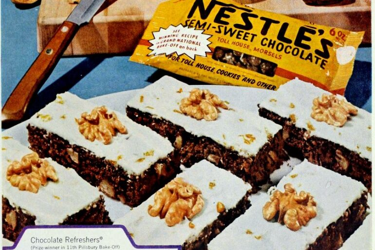 chocolate refreshers brownie recipe 1960 1961