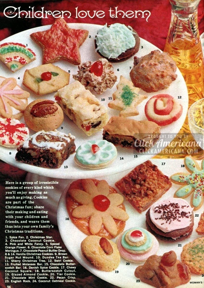 36 Christmas cookie recipes children will love (1962)