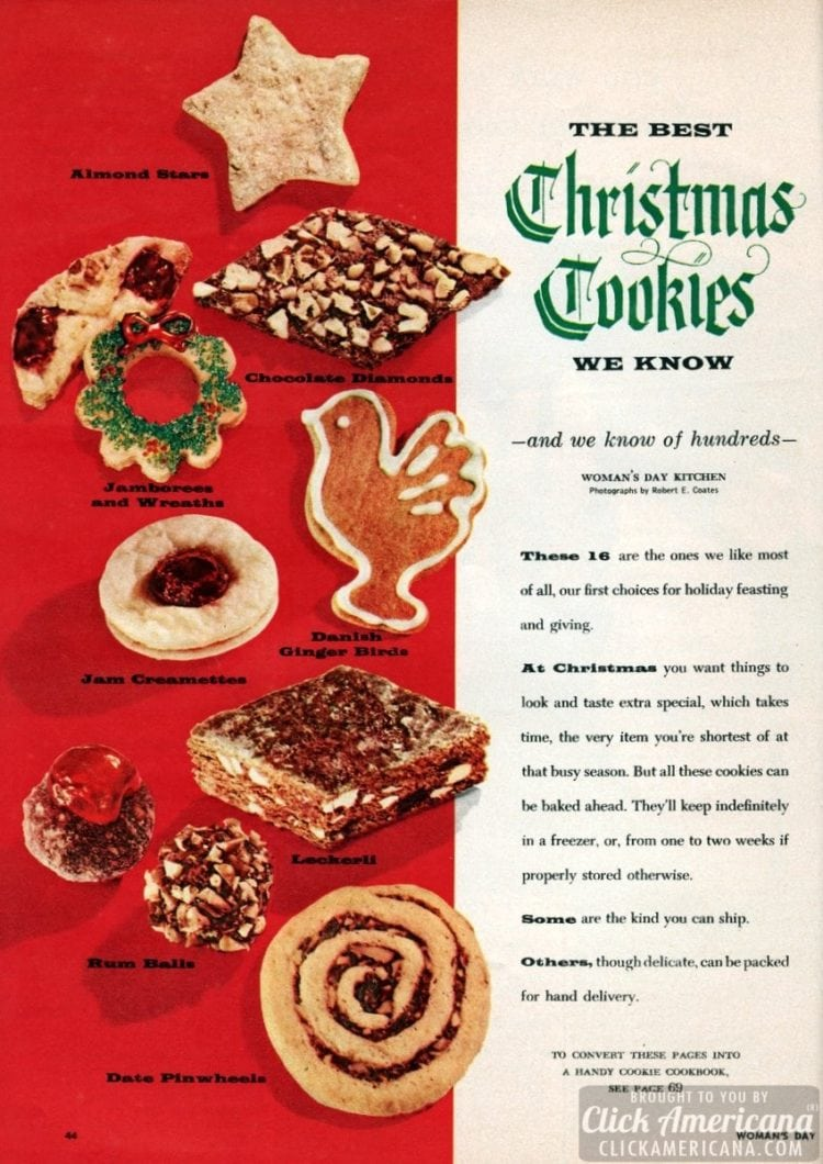 6 of the best classic Christmas cookies we know (1956)