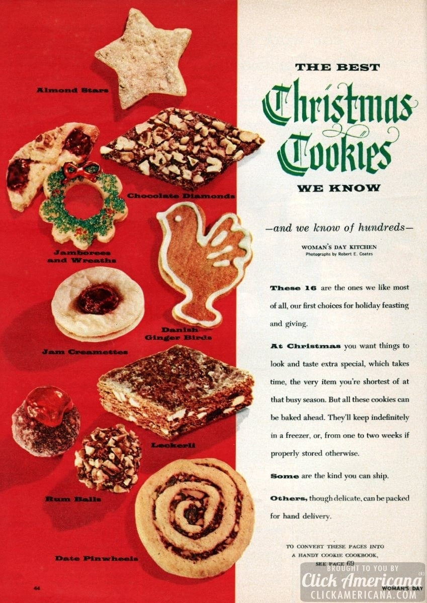 The best Christmas cookies we know (1956)