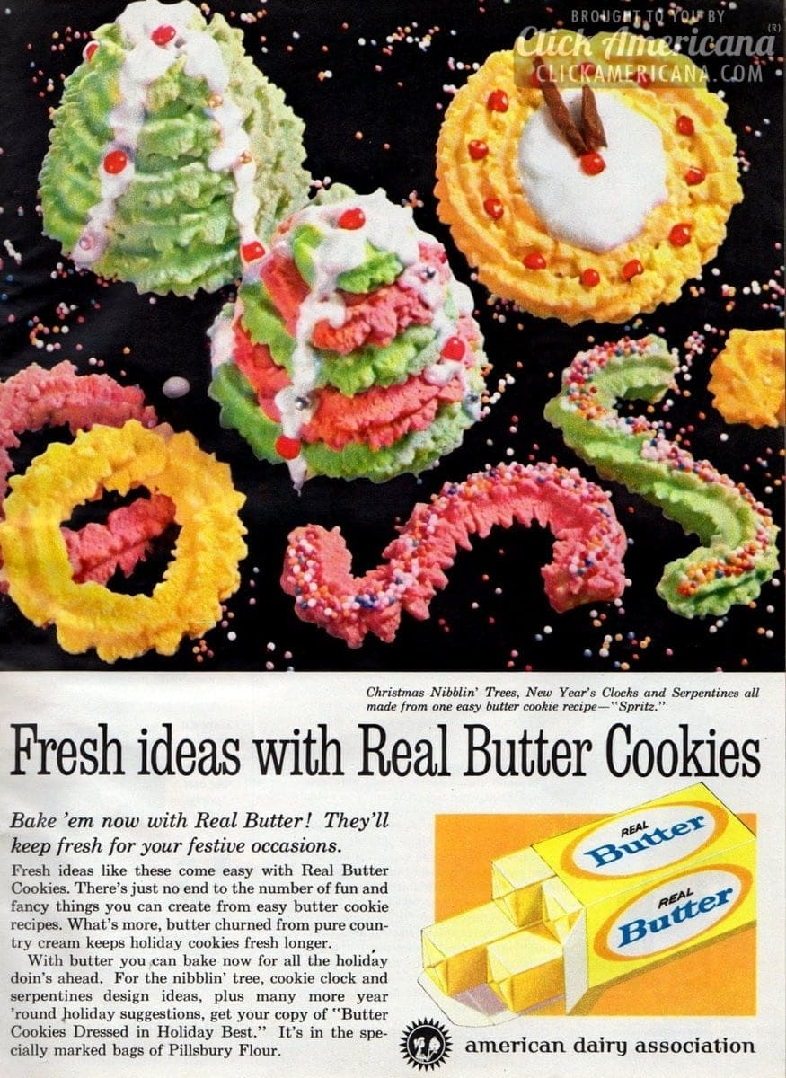 Christmas spritz cookie designs (1961)