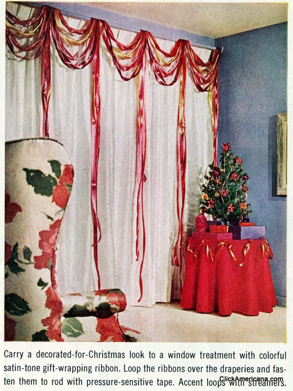 Ribbony Christmas Crafts For Your Home 1963 Click