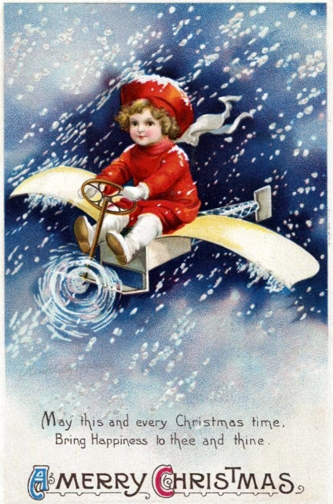 Take A Look Back At 50 Antique Christmas Cards From 100 Years Ago Click Americana
