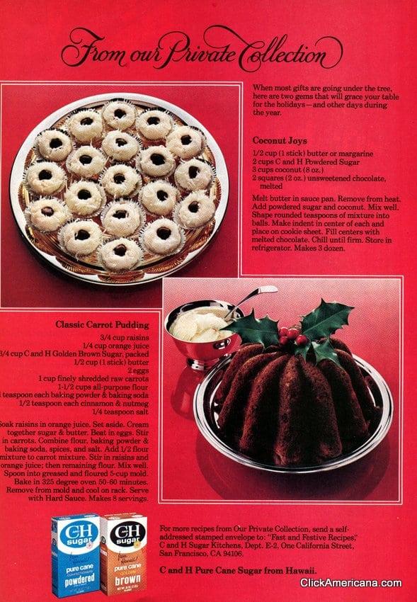 Classic Carrot Pudding & Coconut Joy recipes (1979)