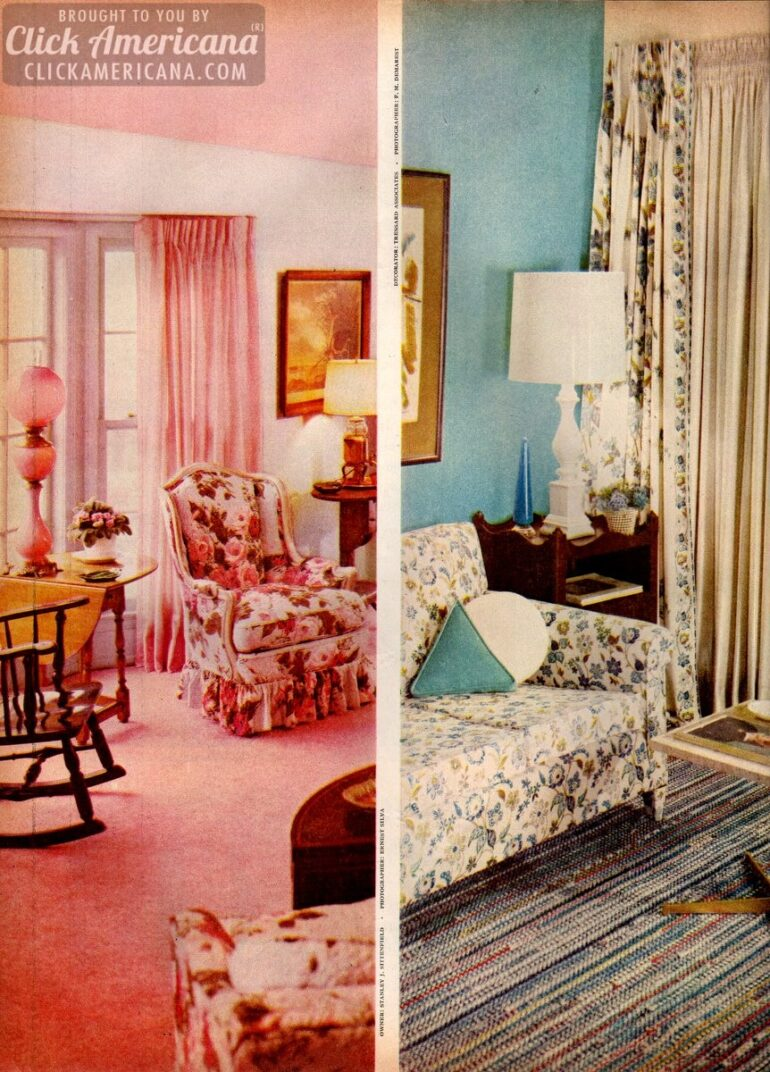 Home Decor 1950s Style Be Generous With Color