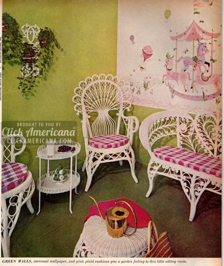 Vintage green home decor from 1959