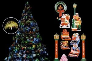 colorful vintage Christmas lights from the 50s and 60s