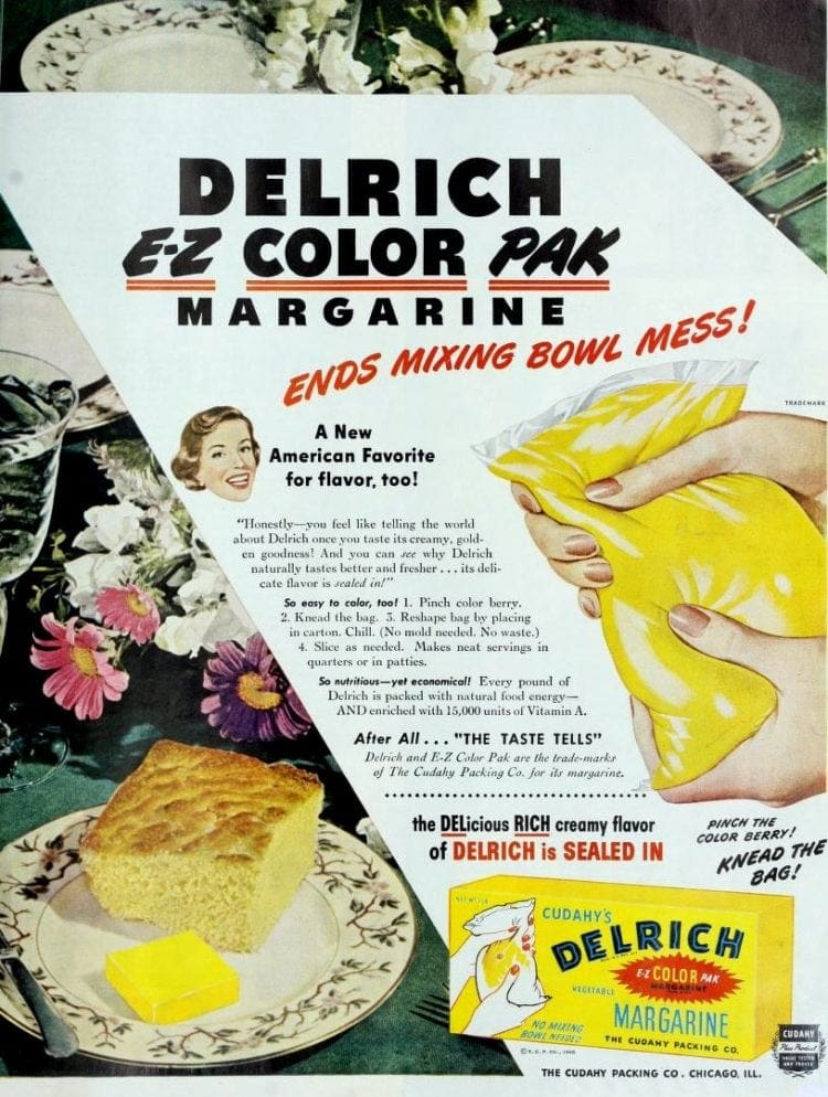 colored margarine