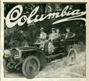 Columbia gasoline cars & electric carriages (1905)