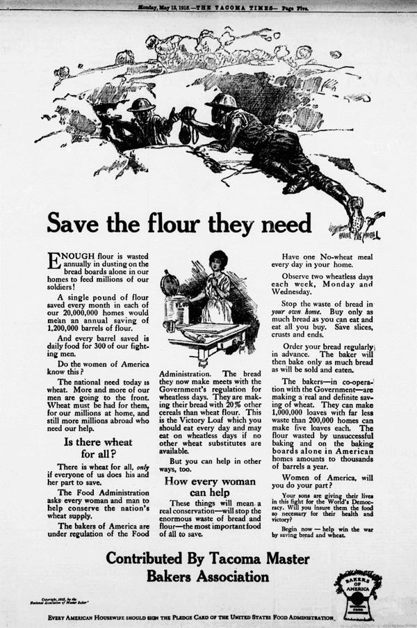Conserve flour ad (1918)