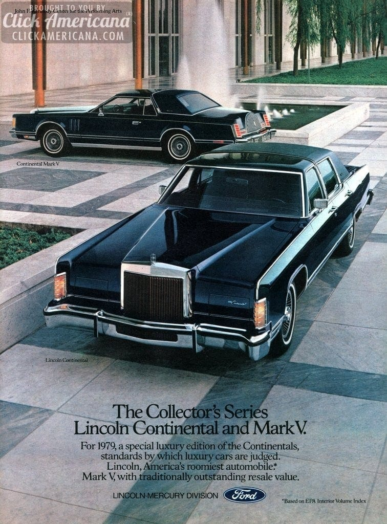 continental mark v ad brochure tom selleck 1979 click americana. Black Bedroom Furniture Sets. Home Design Ideas