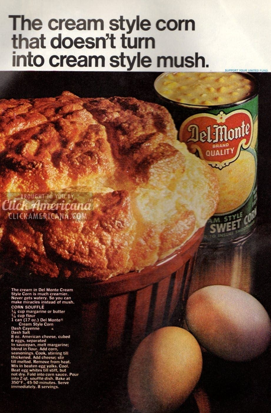 Corn Souffle, made with cream-style corn (1968)