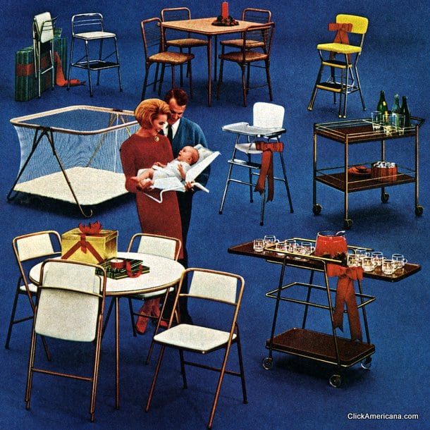 Magnificent Vintage Cosco Home Baby Gear 1964 Click Americana Creativecarmelina Interior Chair Design Creativecarmelinacom