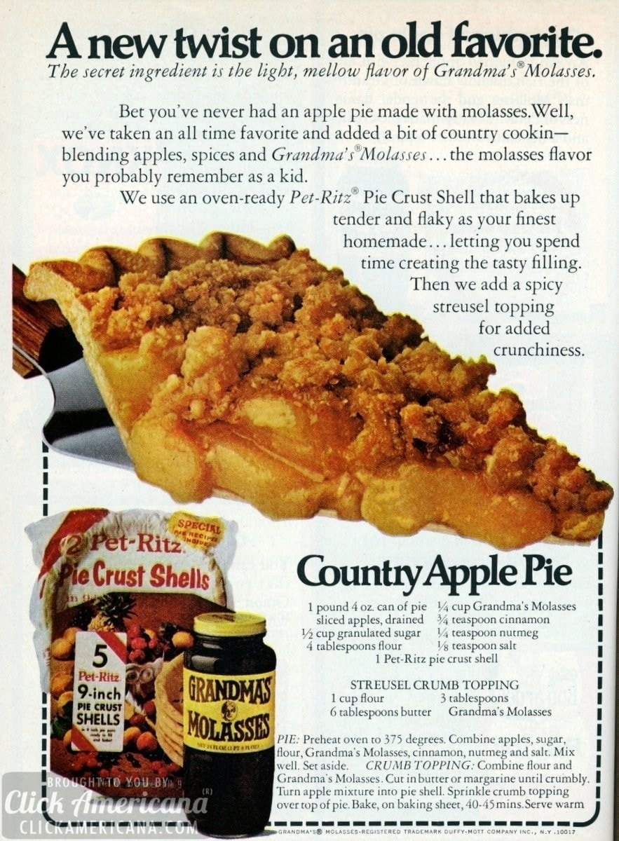 Country Apple Pie with Streusel Crumb Topping (1973)