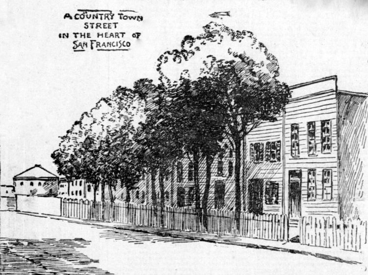 country street in heart of SF 1896