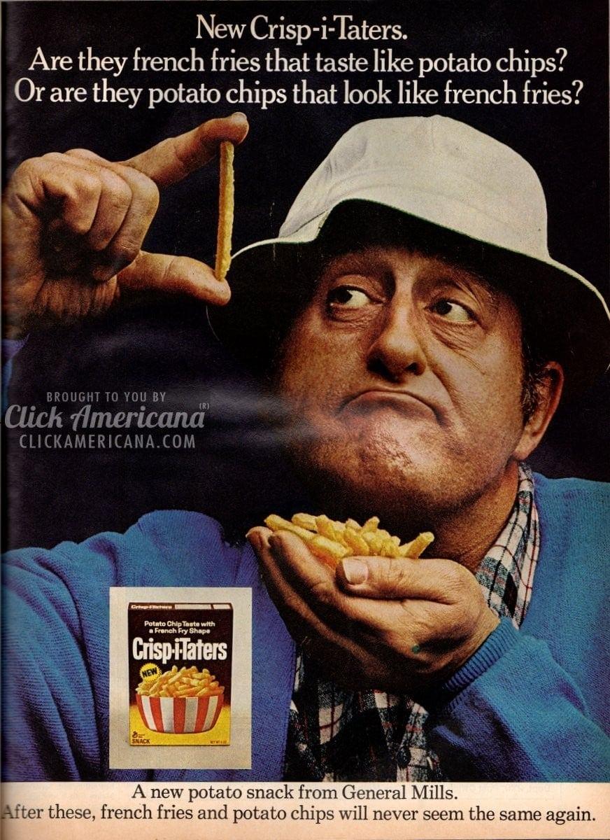 New Crisp-i-Taters: French-fry shaped potato chips (1971)