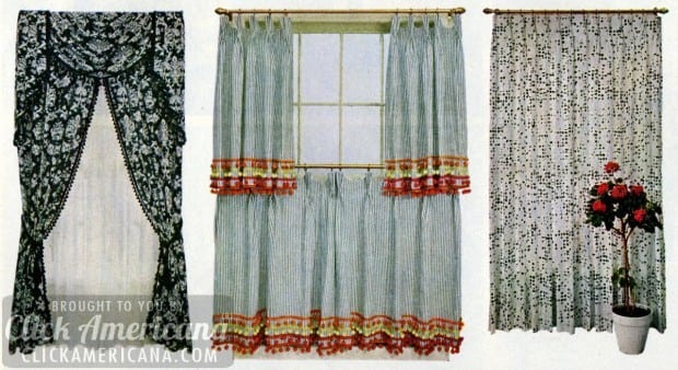 Curtains drapes expert advice 1965 click americana for 1940s window treatments