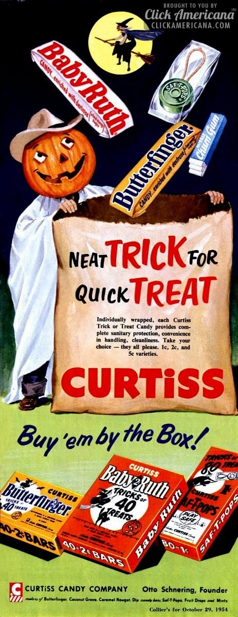 Neat tricks for quick treats: Curtiss Halloween candy (1954)