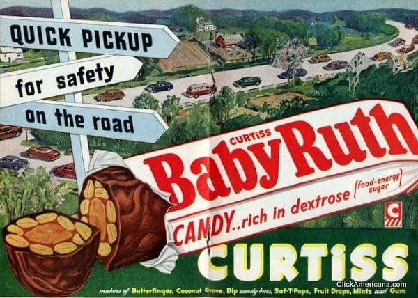 Baby Ruth candy bar ads