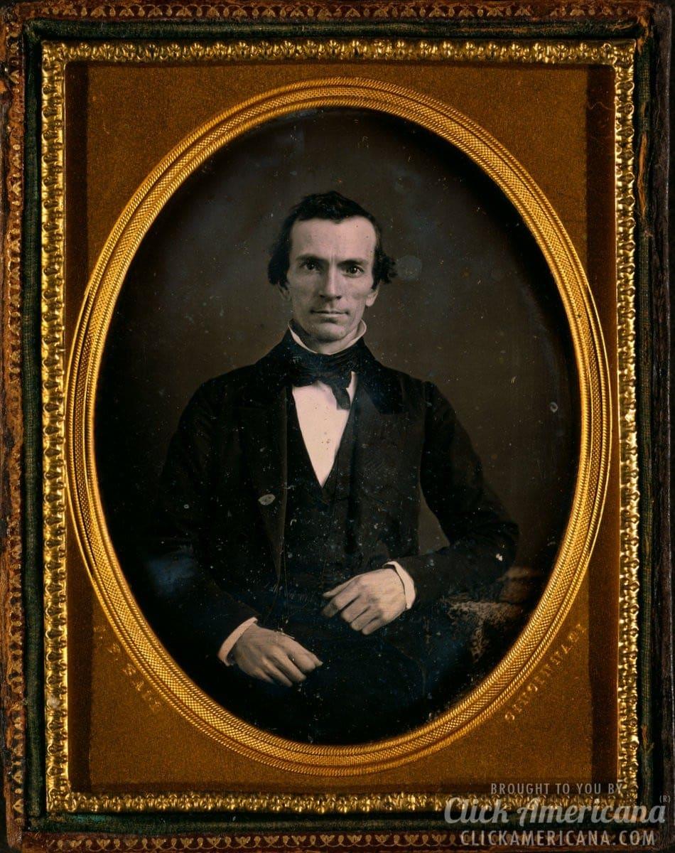 Unidentified man, half-length portrait