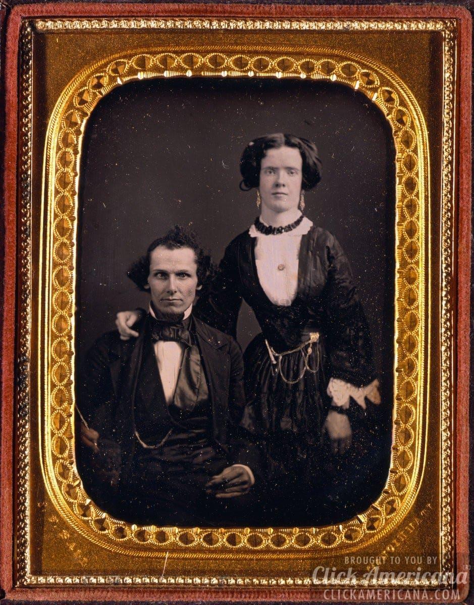 Unidentified antique portraits