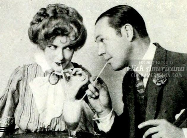 Comparing old-time courting & a red-hot date (1927)