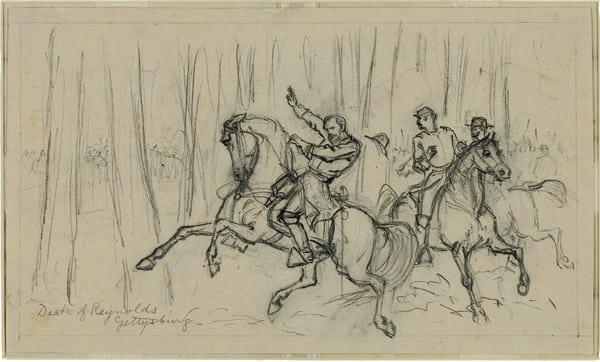 death-of-reynolds-gettysburg-1863-sketch