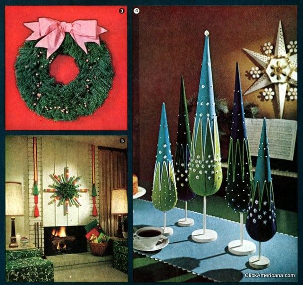 Retro Christmas decor you can make 1964 Click Americana