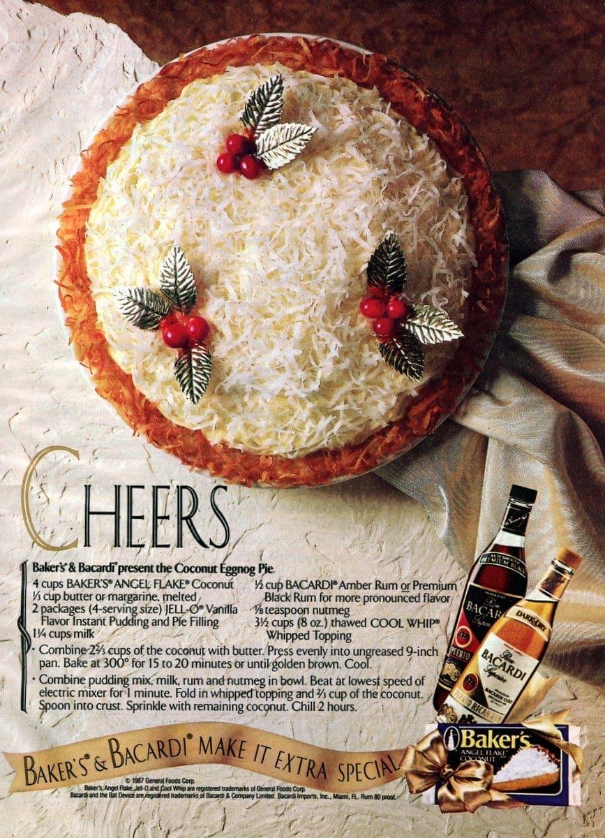 Bakers & Bacardi present the Coconut Eggnog Pie (1987)