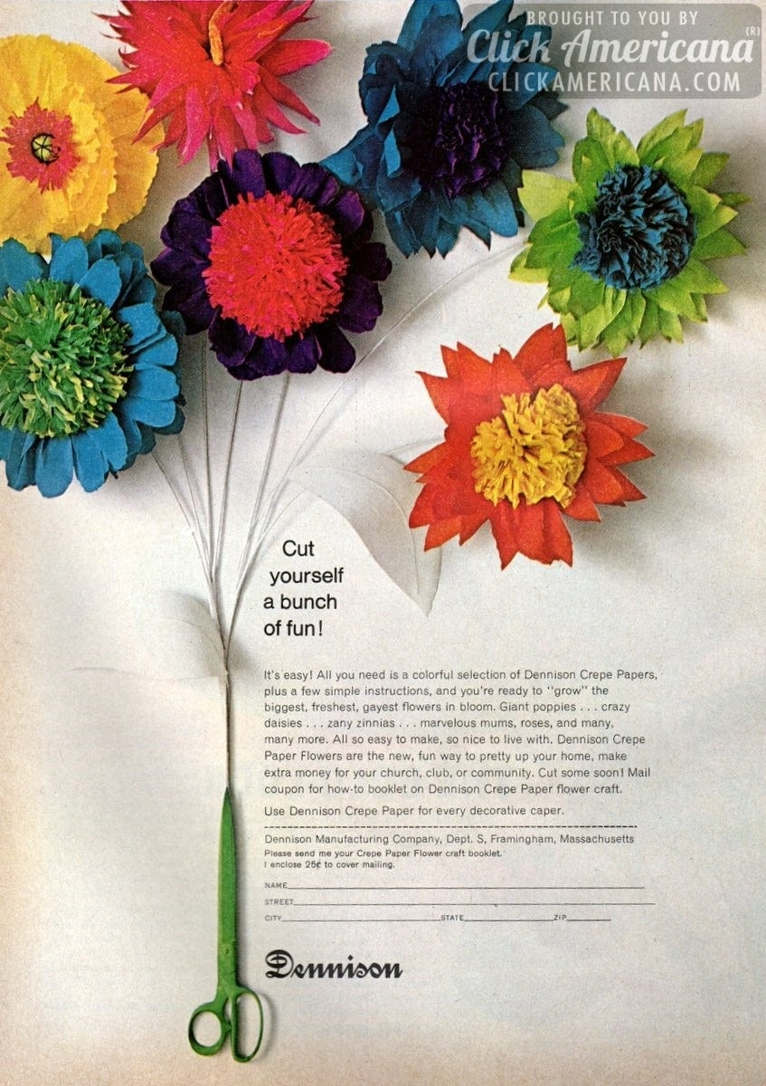 Crepe paper flower craft ideas 1967 click americana jeuxipadfo Gallery