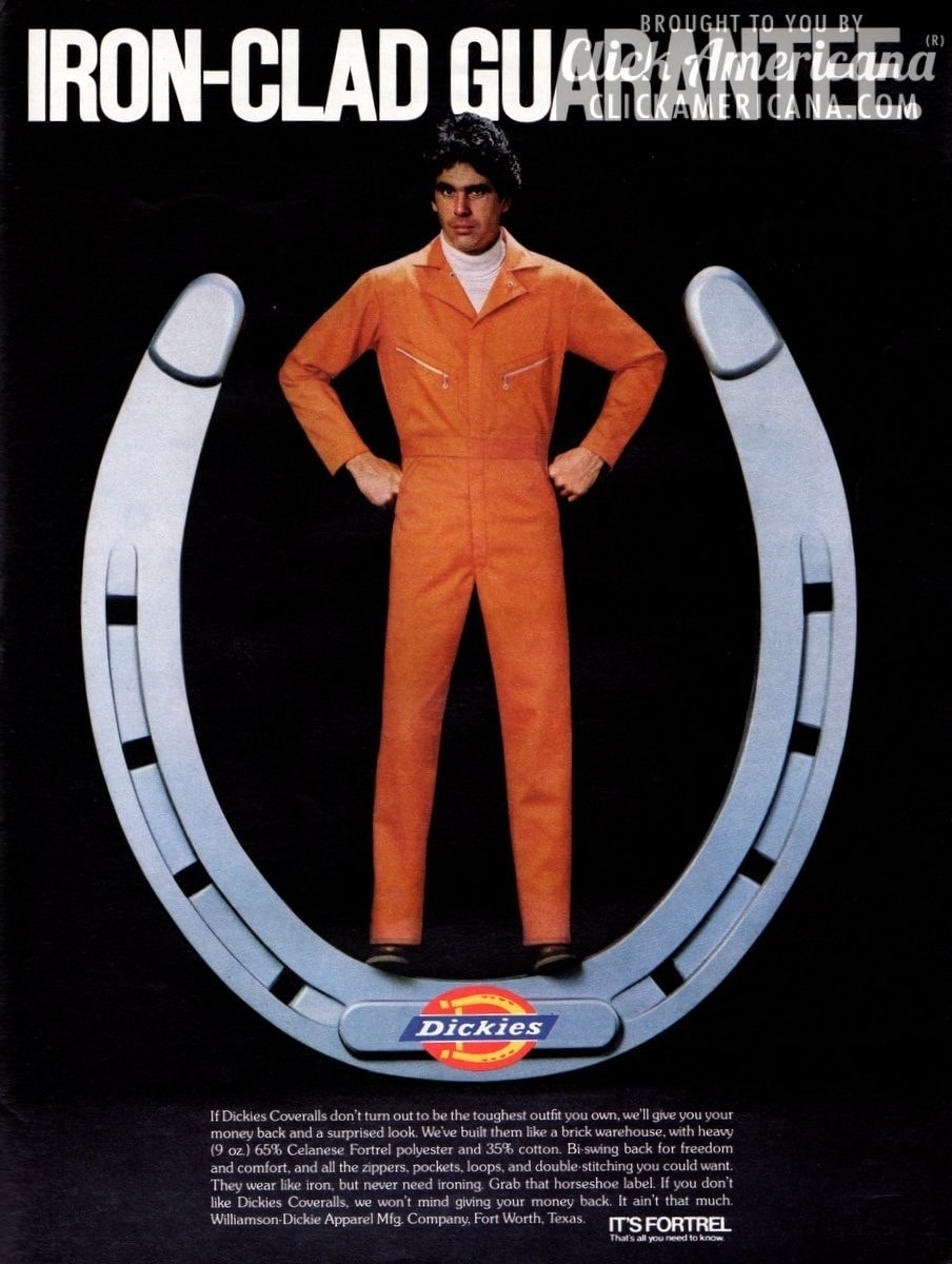 Dickies Coveralls, with an iron-clad guarantee (1980)