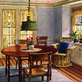 Images of the ideal american home 1922 click americana for Room decor 1920s