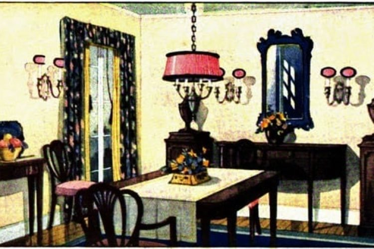 How to light your dining room (1922) - Click Americana