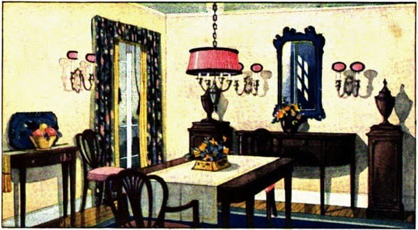 How to light your dining room (1922)