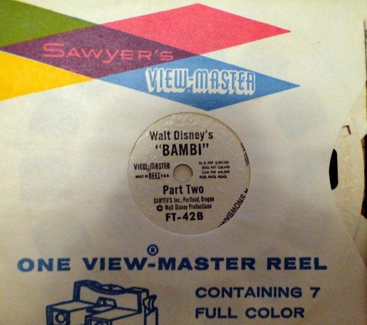 Vintage View-Master reels of Bambi