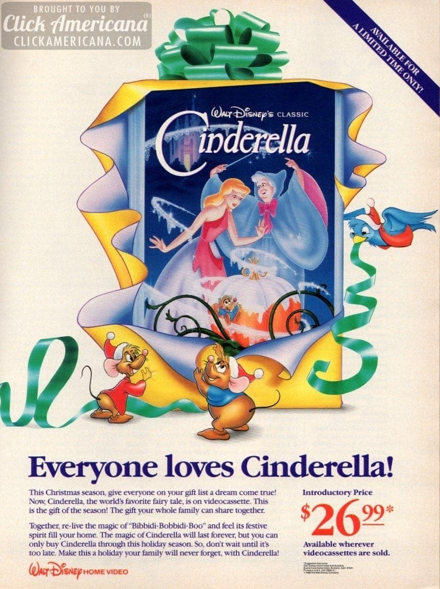 Get Cinderella On Videocassette For A Limited Time 1988