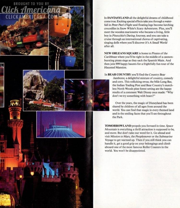 The Disneyland lands