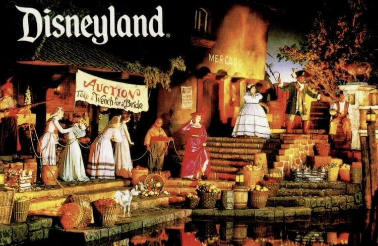Auction: Take a wench for a bride vintage Disneyland postcard