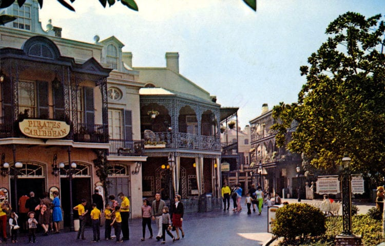 The original exterior of the Pirates of the Caribbean ride