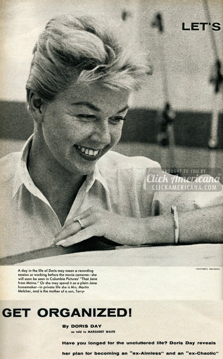 Doris Day tells you how to get organized! (1959)