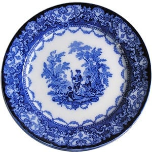 Royal Doulton blue plate from 1921