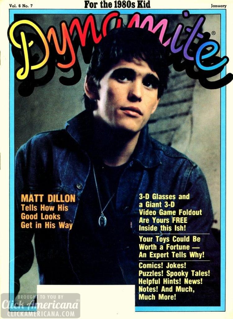 Dynamite Magazine - Matt Dillon cover
