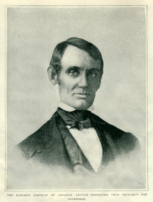 One of the earliest portraits of Abraham Lincoln (1848)